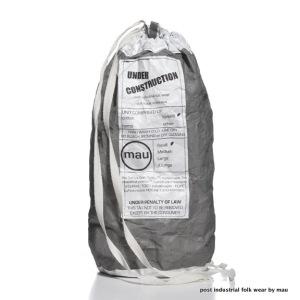 cement grey wrap dress - little carry bag (3)